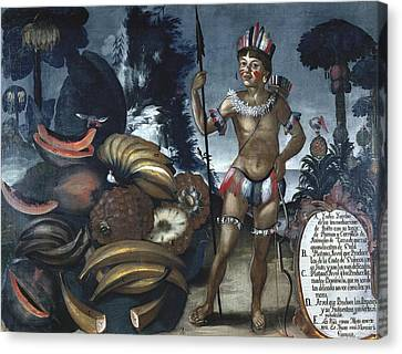 Alban, Vicente 18th C.. Yumbo Indian Canvas Print by Everett