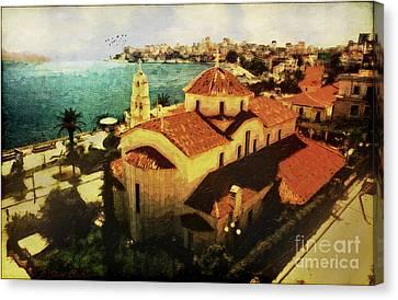Corfu Canvas Print - Albanian Riviera Sarande by Lianne Schneider