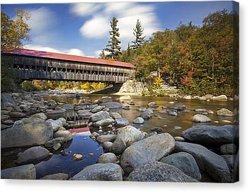 Albany Covered Bridge Canvas Print by Eric Gendron