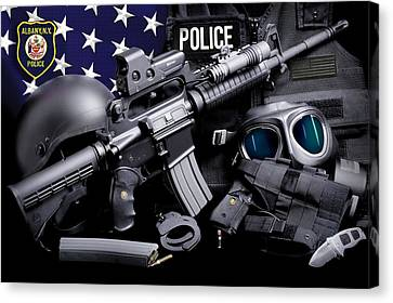 Ny Police Department Canvas Print - Albany Police by Gary Yost