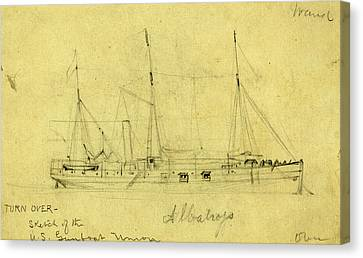 Albatross, Between 1860 And 1865, Drawing On Cream Paper Canvas Print by Quint Lox