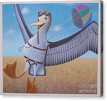 Albatross Landing Canvas Print