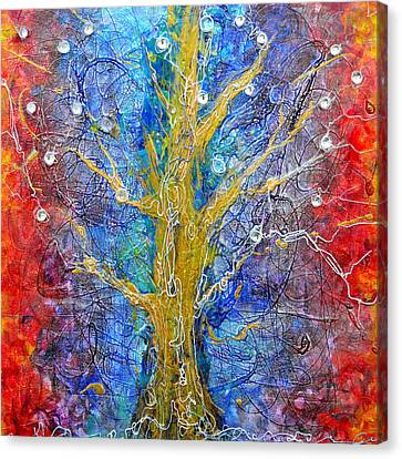 Albedo Tree Of Life 8 Canvas Print by Regina Valluzzi