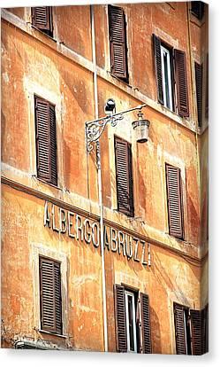 Albergo Abruzzi Canvas Print by Valentino Visentini