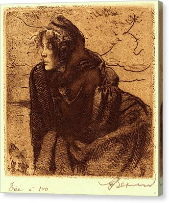 Albert Besnard, French 1849-1934, Melancholy Mélancolie Canvas Print