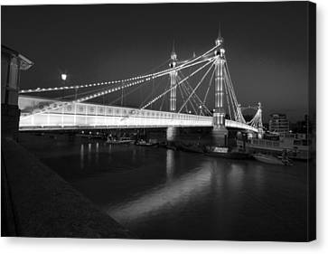 Albert Bridge At Night  Canvas Print