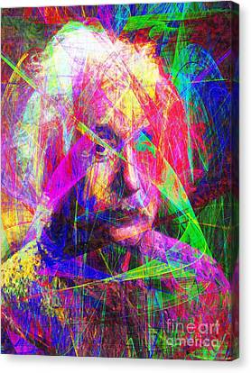 Albert Einstein 20130615 Canvas Print by Wingsdomain Art and Photography