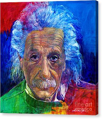 Albert Einstein Canvas Print by David Lloyd Glover