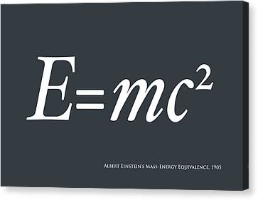 Albert Einstein E Equals Mc2 Canvas Print by Michael Tompsett