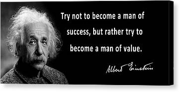 Ethical Values Canvas Print - Albert Einstein Speaks About Character by Daniel Hagerman