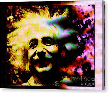 Albert Einstein - Why Is It That Nobody Understands Me - Yet Everybody Likes Me Canvas Print