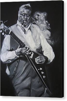 Albert King Canvas Print by Steve Hunter