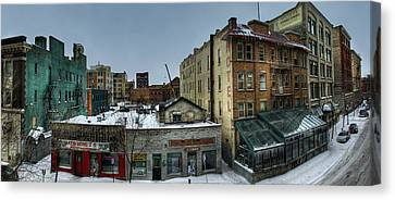 Building Canvas Print - Albert Street by Bryan Scott