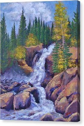 Alberta Falls Canvas Print by Margaret Bobb