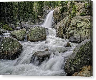 Alberta Falls Canvas Print by Tom Wilbert