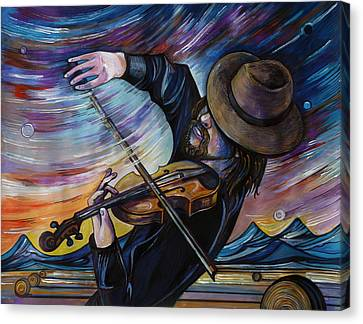 Alberta Fiddle Canvas Print by Anna  Duyunova