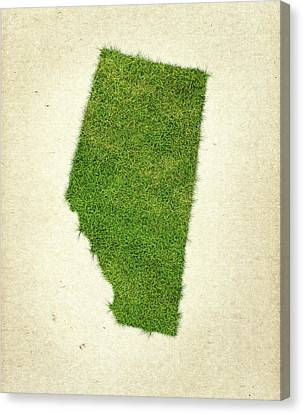 Alberta Grass Map Canvas Print by Aged Pixel