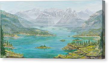 Alberta Rocky Mountains Canvas Print by Cathy Long