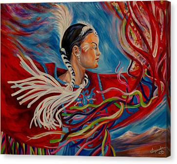 Alberta Sky Canvas Print by Anna  Duyunova