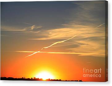 Alberta Sunset Canvas Print by Alyce Taylor