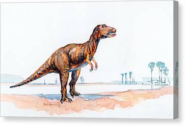 Albertosaurs Canvas Print by Robert Spannring