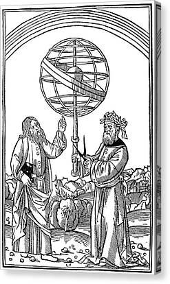 Cosmology Canvas Print - Albertus Magnus (1193-1280) by Granger