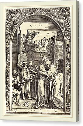 Albrecht Dürer German, 1471-1528, Joachim And Anna Canvas Print by Litz Collection