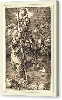 Albrecht Dürer German, 1471-1528, Saint Christopher Facing Canvas Print by Litz Collection