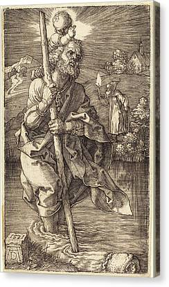 Albrecht Dürer German, 1471 - 1528, Saint Christopher Canvas Print by Quint Lox