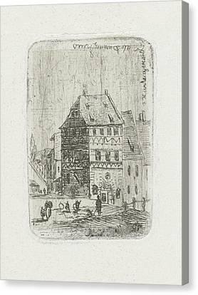 Albrecht Drer House In Nuremberg, Joseph Hartogensis Canvas Print by Joseph Hartogensis