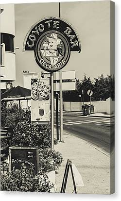 Albufeira Street Series - Coyote Bar I Canvas Print by Marco Oliveira