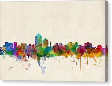 Albuquerque New Mexico Skyline Canvas Print