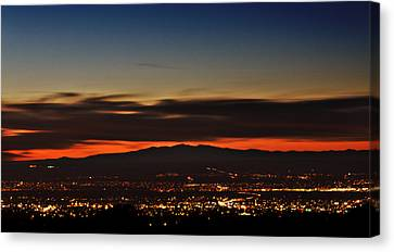 Albuquerque Sunset Canvas Print by Marlo Horne