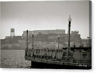 Canvas Print featuring the photograph Alcatraz by Alex King