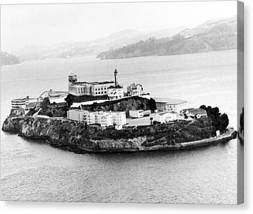Alcatraz All Alone Canvas Print by Retro Images Archive