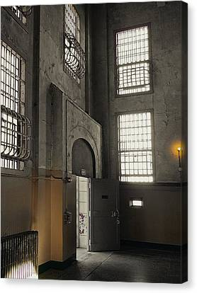 Alcatraz Doorway To Freedom Canvas Print by Daniel Hagerman
