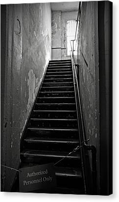 Alcatraz Canvas Print - Alcatraz Hospital Stairs by RicardMN Photography