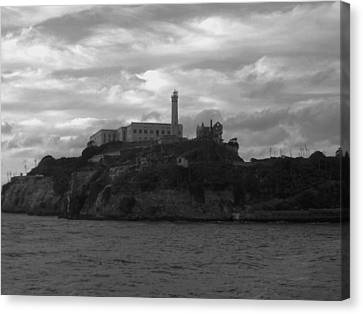 Alcatraz Island B N W Canvas Print