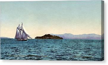Alcatraz Canvas Print - Alcatraz Island, C1900 by Granger