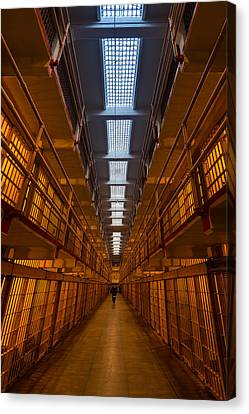 Alcatraz Canvas Print - Alcatraz Main Cell Block by Steve Gadomski