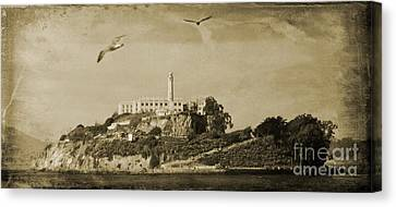Alcatraz San Francisco Canvas Print by John Malone