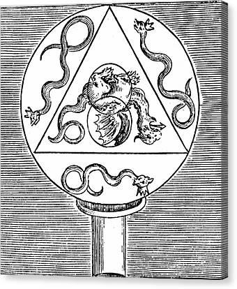 Alchemy Symbols Canvas Print