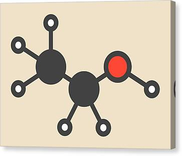 Alcohol Molecule Canvas Print