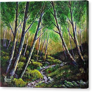 Alder Creek Canvas Print by Kenny Henson