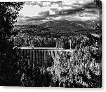 Canvas Print featuring the photograph Alder Dam Near Mt Rainer Wa by Ron Roberts