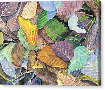 Alder Leaves And Faerie Canvas Print