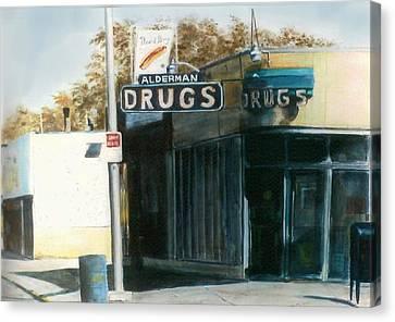 Alderman Drugs Canvas Print