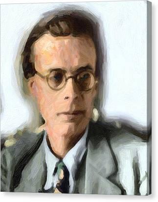 Aldous Huxley Canvas Print by Celestial Images