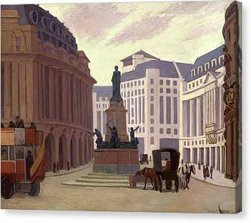 Aldwych, London Back Of Canvas And Back Of Stretcher Canvas Print