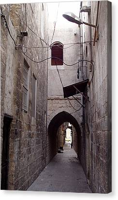 Aleppo Alleyway04 Canvas Print by Mamoun Sakkal